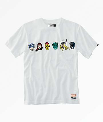Vans x Marvel Boys White T-Shirt