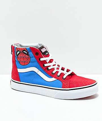Vans x Marvel Kids Sk8-Hi Spider-Man Skate Shoes