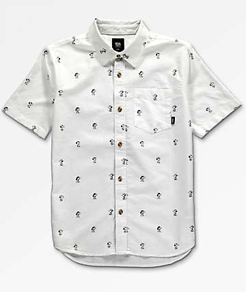Vans x Peanuts House camisa blanca para niños