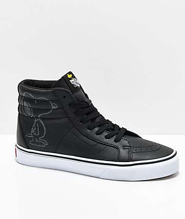Vans x Peanuts Sk8-Hi Snoopy zapatos de skate en negro