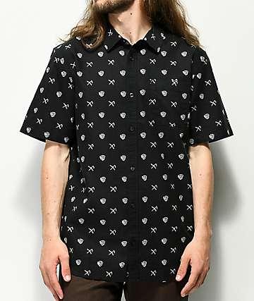 Vans x Sketchy Tank Crossroad camisa negra de manga corta