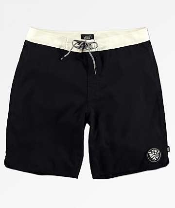 Vans x Sketchy Tank Deep Sea shorts de baño en negro y blanco