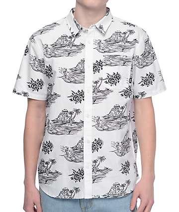 Vans x Sketchy Tank White Short Sleeve Button Up Shirt