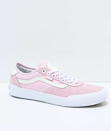 Vans x Spitfire Chima Pro II Pink & White Skate Shoes