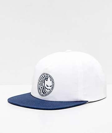 Vans x Spitfire gorra de béisbol blanca y azul