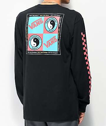 Vans x T&C Surf Designs Boxed Black Long Sleeve T-Shirt