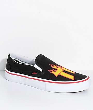 Vans x Thrasher Slip-On Pro zapatos de skate en negro