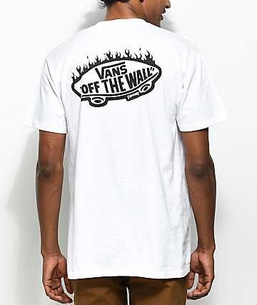 Vans x Thrasher camiseta blanca con bolsillo