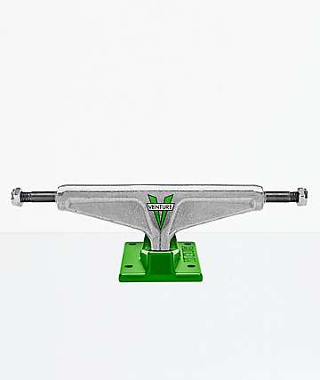 "Venture OG Polished Green 5.25"" High Skateboard Truck"