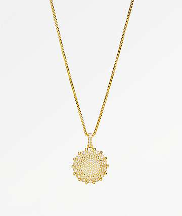 Veritas Flooded 2 Gold Pendant Necklace