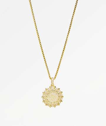 Veritas Flooded 2 collar de oro con colgante