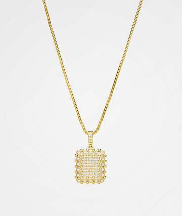 Veritas Flooded Gold Pendant Necklace