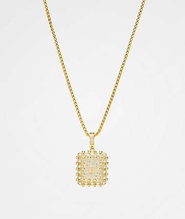 Veritas Flooded collar de oro con colgante