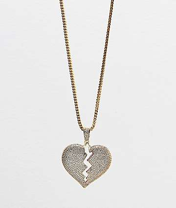 Veritas Heartbreak Gold Pendant Necklace