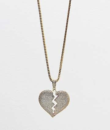 Veritas Heartbreak collar con colgante de oro