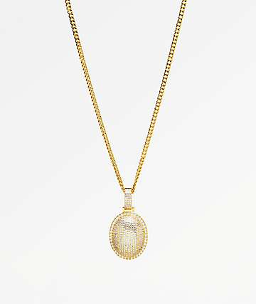 Veritas Raindrop Gold Pendant Necklace