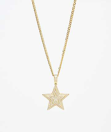 Veritas Star Gold Pendant Necklace