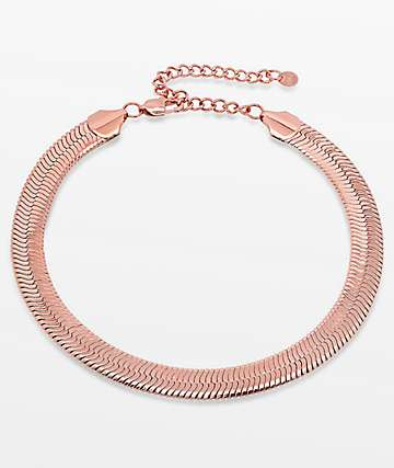 Vesso Mina Herringbone Rose Gold Choker