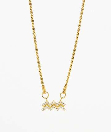 Vesso collar de oro de acuario para mujer