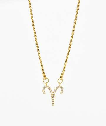Vesso collar de oro de aries para mujer