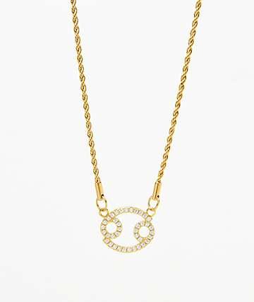 Vesso collar de oro de cáncer para mujer