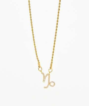 Vesso collar de oro de capricornio para mujer