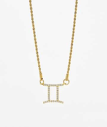 Vesso collar de oro de géminis para mujer