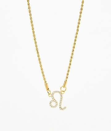 Vesso collar de oro de leo para mujer