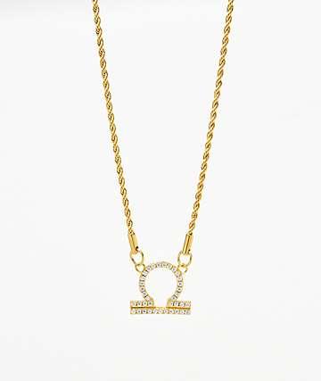 Vesso collar de oro de libra  para mujer