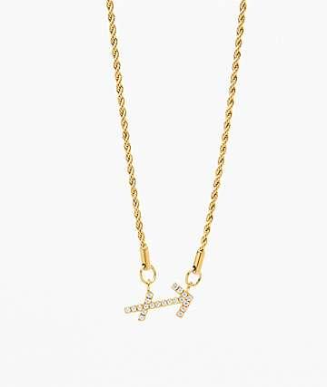 Vesso collar de oro de sagitario para mujer