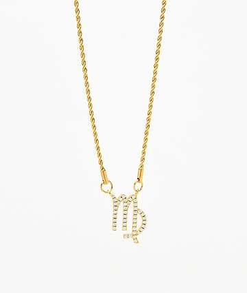 Vesso collar de oro de virgo para mujer
