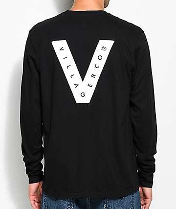 Villager Koston Black Long Sleeve T-Shirt