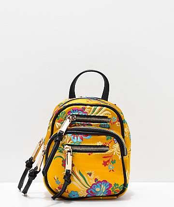 Violet Ray Kimono mini mochila dorada