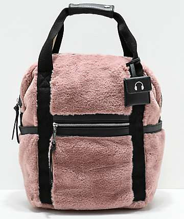 Violet Ray Mauve Fur Backpack