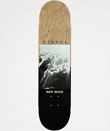 "Visual Matt Miller Rays 7.75"" Skateboard Deck"