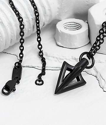 Vitaly Arcus Matte Black Necklace