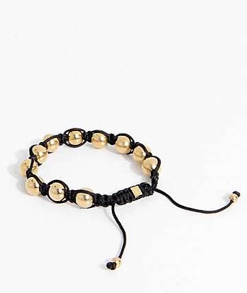 Vitaly Orbis pulsera en negro y color oro