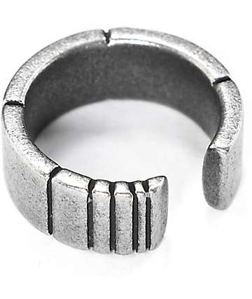 Vitaly Sector X Antiqued Steel Ring