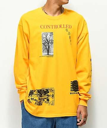 Vitriol Chaos camiseta dorada de de manga larga