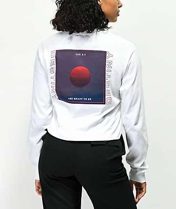 Vitriol Destiny Sun White Crop Long Sleeve T-Shirt