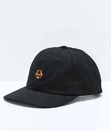 Vitriol Gridded Black Strapback Hat