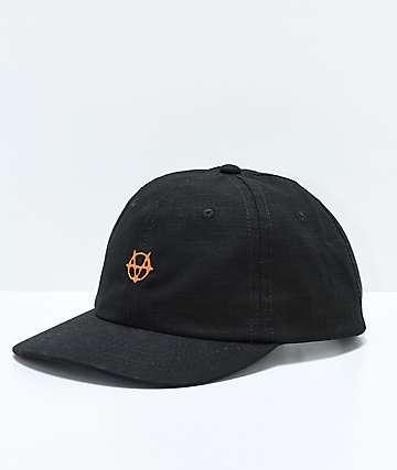 Vitriol Gridded gorra strapback en negro