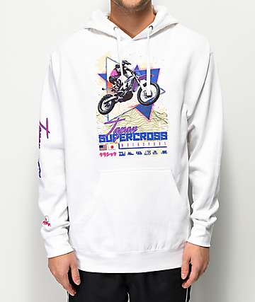 Vitriol Japan Supercross White Hoodie