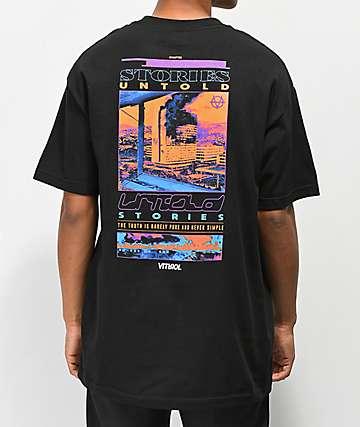 Vitriol Stories Untold Black T-Shirt
