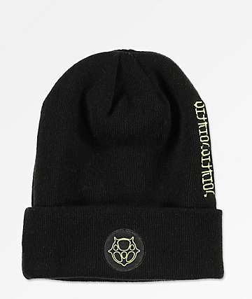Vitriol Tatting Black Beanie
