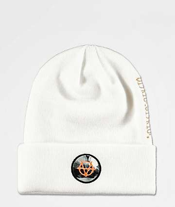 Vitriol Tatting White Beanie