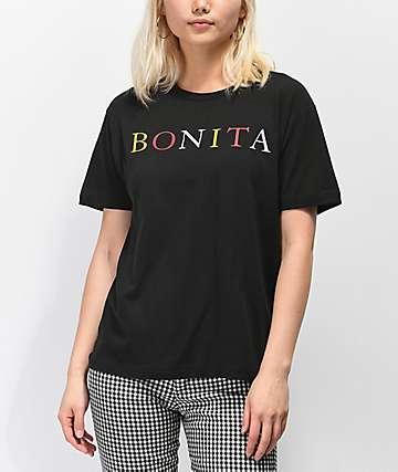 Viva La Bonita New Wave Bonita camiseta negra