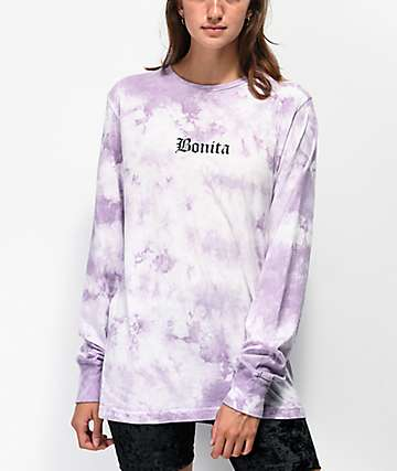 Viva La Bonita The Bonita Lavender Tie Dye Long Sleeve T-Shirt