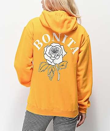 Viva La Bonita You Grow Girl sudadera amarilla con capucha