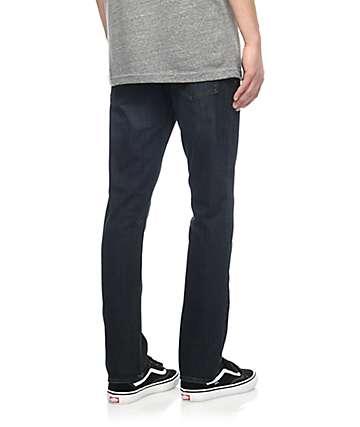 Volcom 2x4 Dark Blue Skinny Denim Jeans